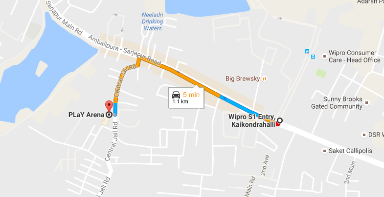 PLaY arena location Sarjapur