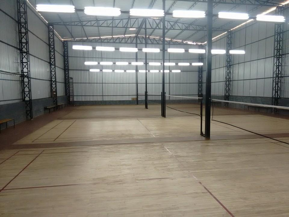 4 wooden badminton courts at enliven