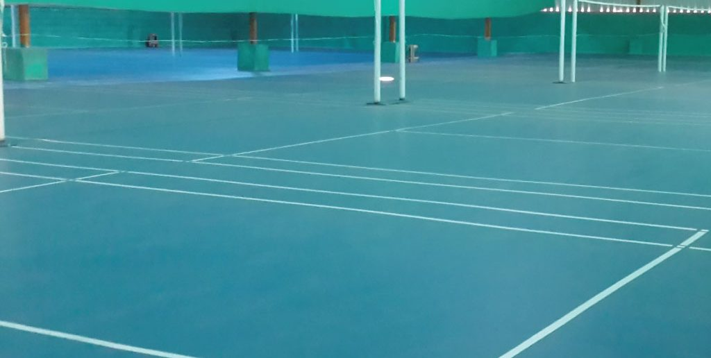 12 synthetic badminton courts at Bellandur. Playstation badminton academy.