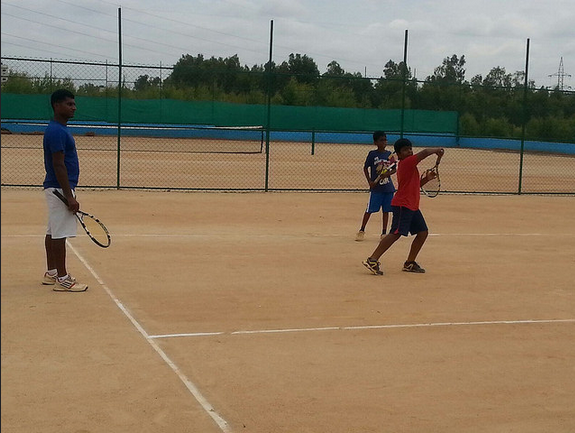 Tennis Enthusiasts in action at the venue