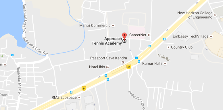 Approach Tennis location Bellandur