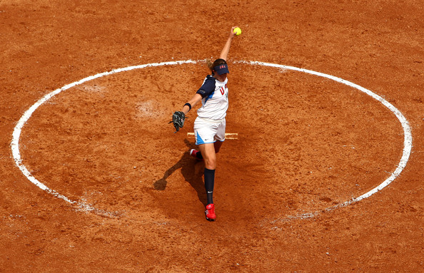 Women playing softball