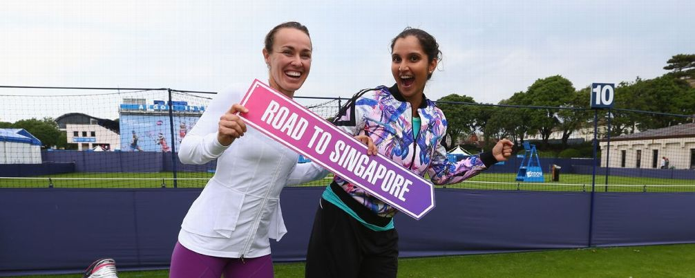 Tennis Doubles Martina Hingis and Sania Mirza