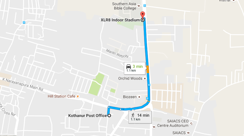 xlr8 location Bangalore