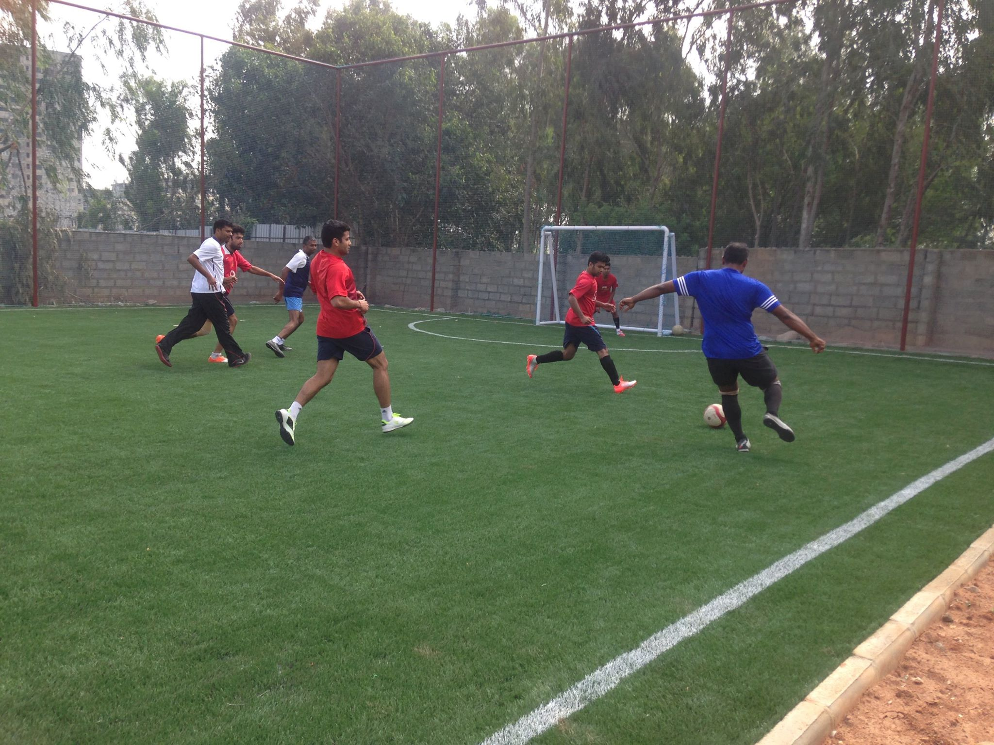 Action on the Football Turf at Matrix Sports Soccer Center