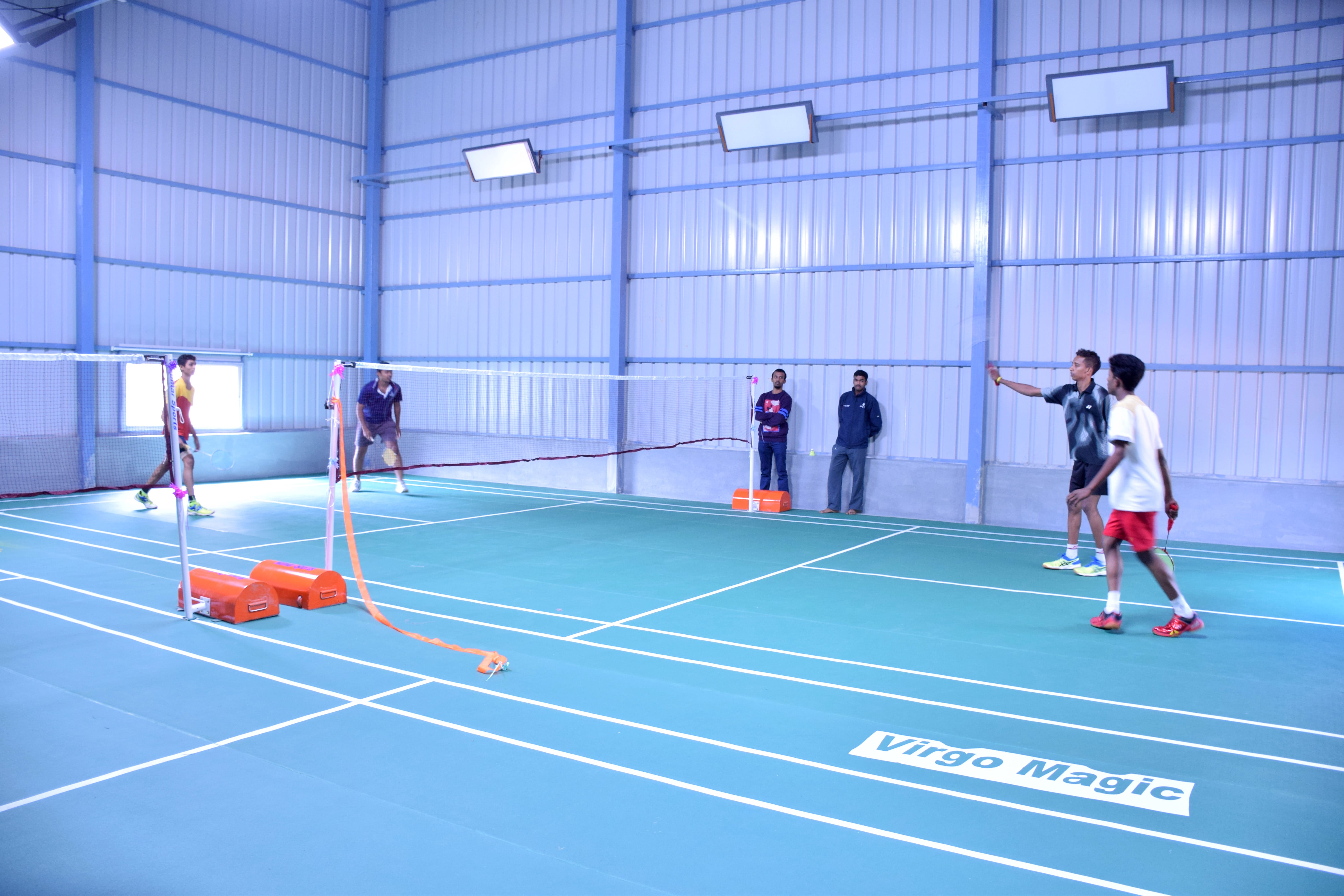 Synthetic Badminton courts at Namma shuttle