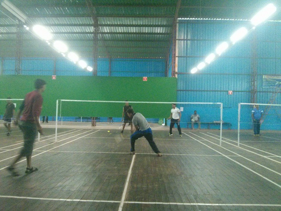 Wooden Badminton courts at New Gurukul Sports