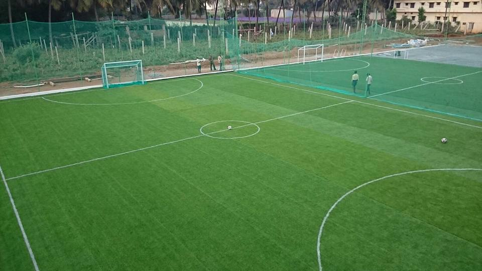 Footbal turf at New Gurukul