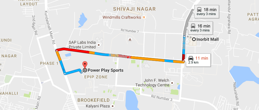 Powerplay location in Whitefield