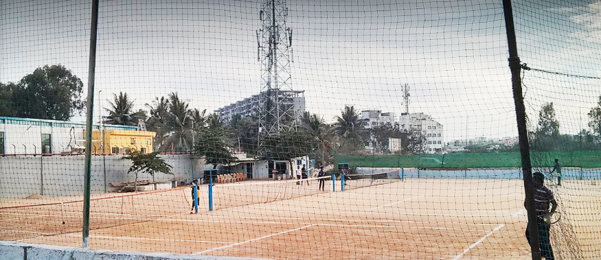 Clay courts at Prakash Tennis Academy