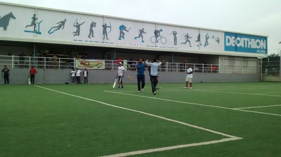 People engaging themselves with a bit of action at Decathlon Sarjapur