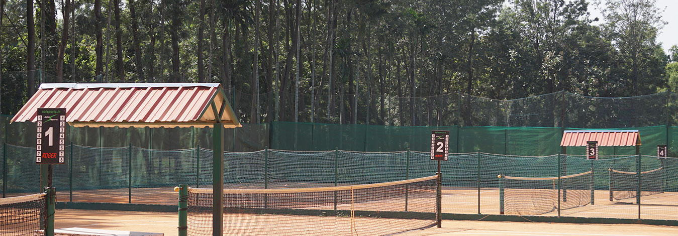 Clay courts at Sol Sports Electronic City