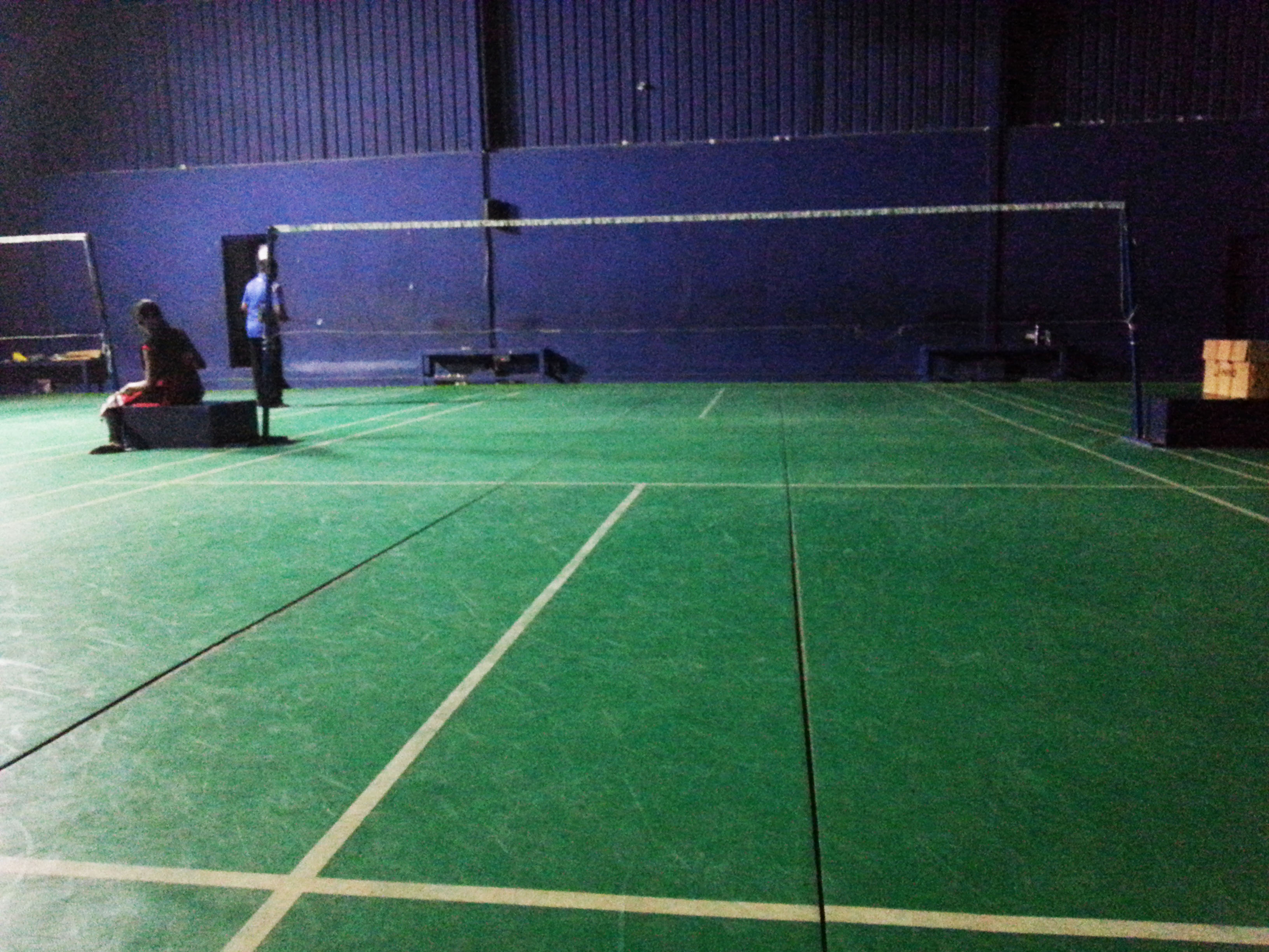 Layout of the Badminton Court at the venue