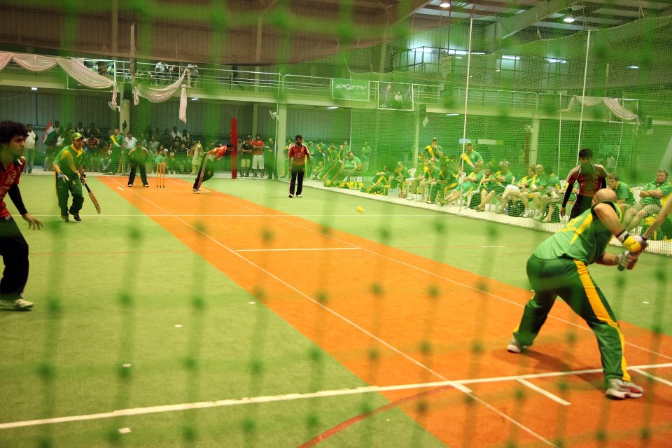 XLR8 Indoor Cricket match in progress
