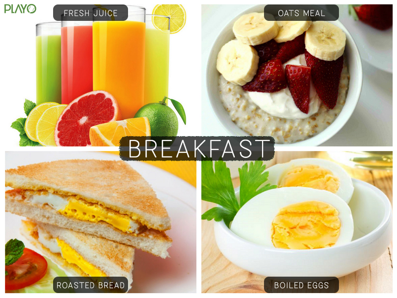 Breakfast diet for Football