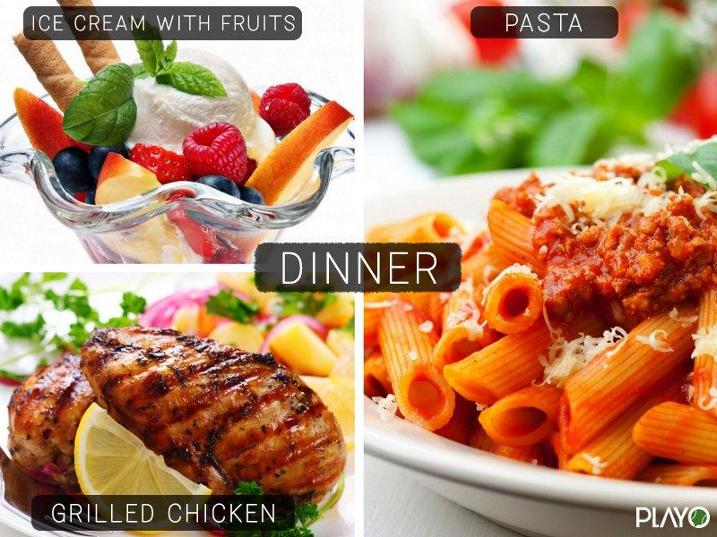 Dinner Diets for football