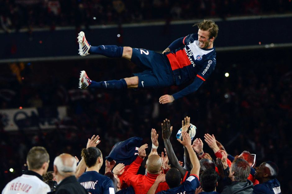 David Beckham bids Goodbye to Football
