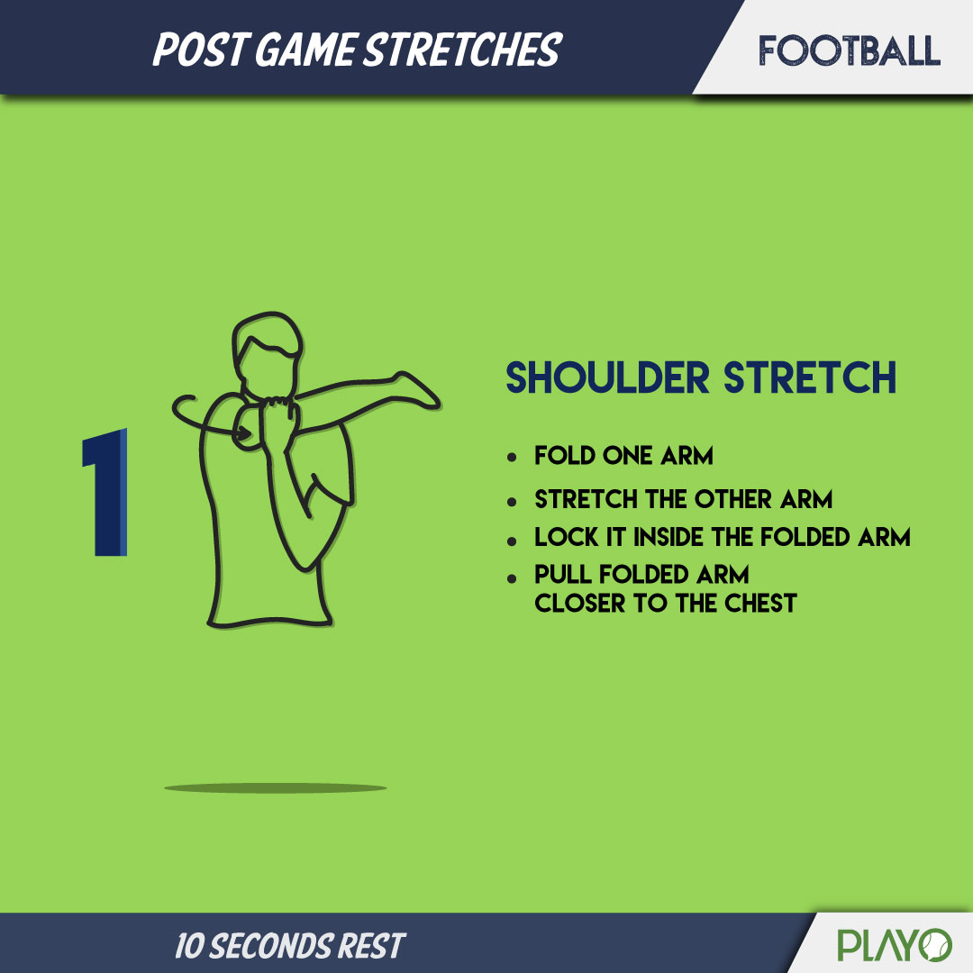 Shoulder Stretch to cool you down after football