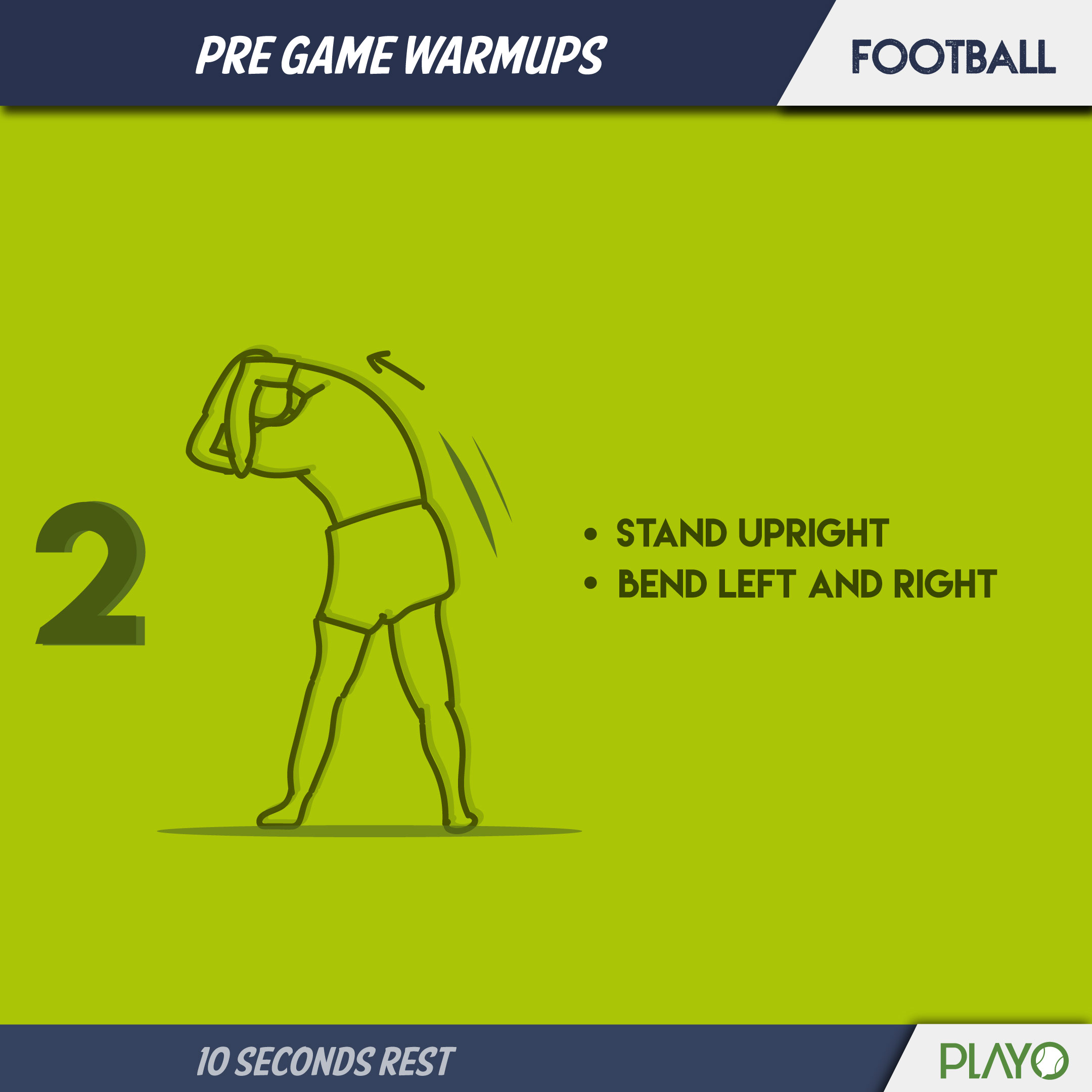 Torso stretch for Warm-up before Football