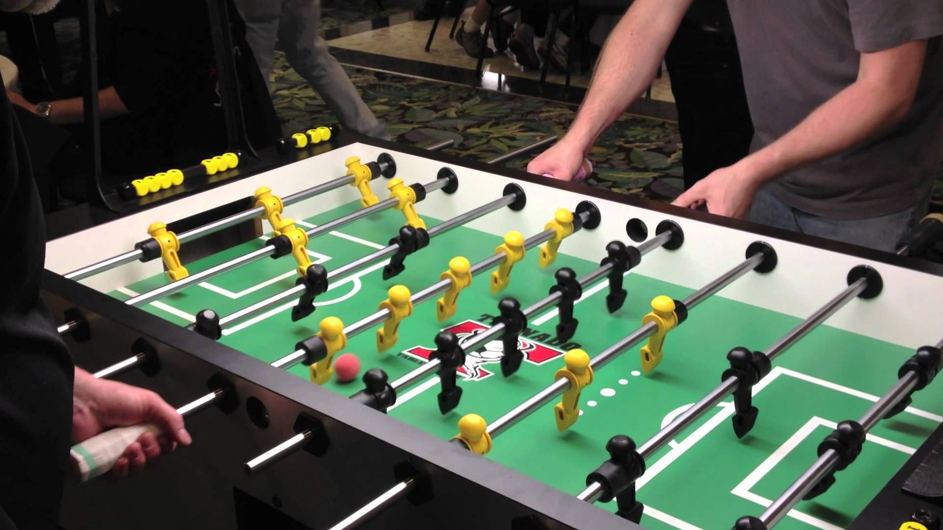 foosball table at office