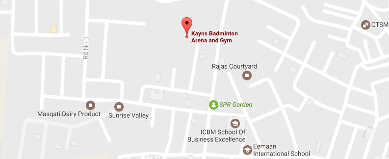 Kayns Badminton Arena and Gym location