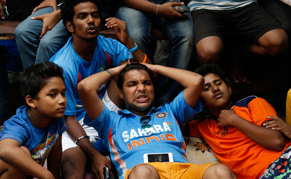 Indian cricket fan over reacting
