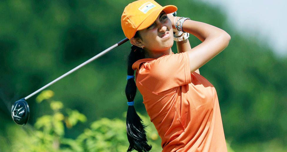 Aditi ashok golf india