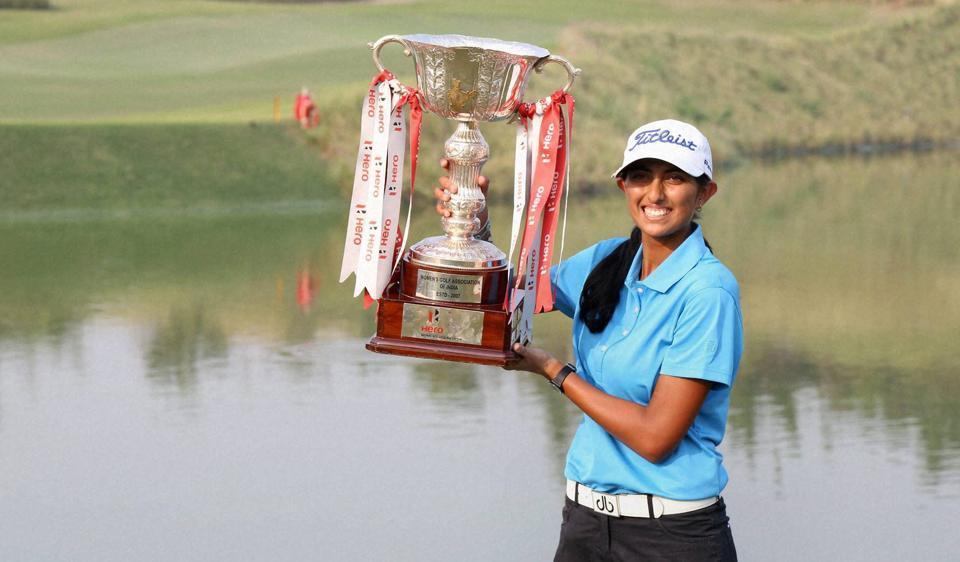 Aditi ashok winning the Hero Women's Indian open