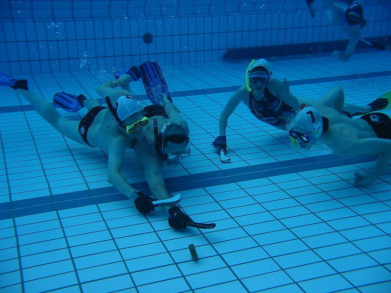 Underwater hockey sport