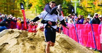 Wife carrying championship strange sports