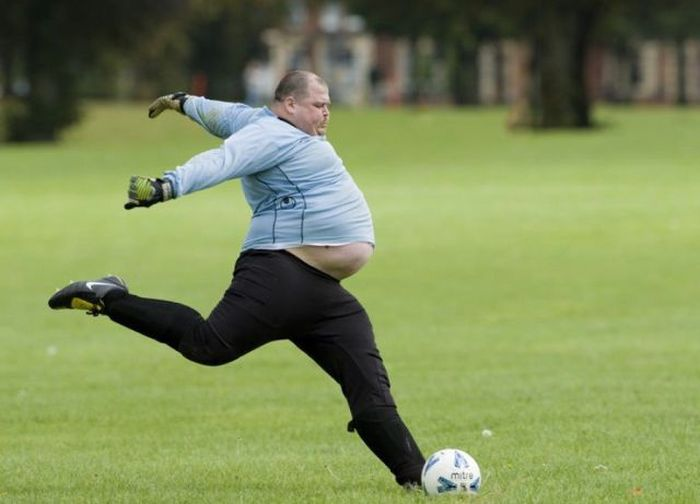 a big fat goalie