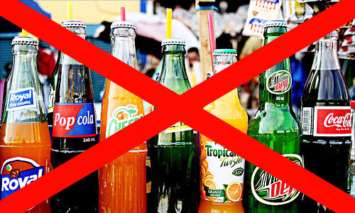 no to soda drinks