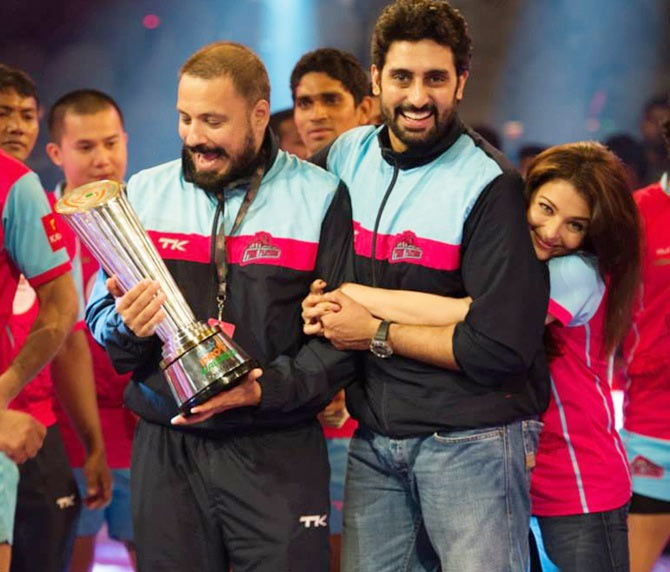 Abhishek Bachchan after the pro kabaddi league final