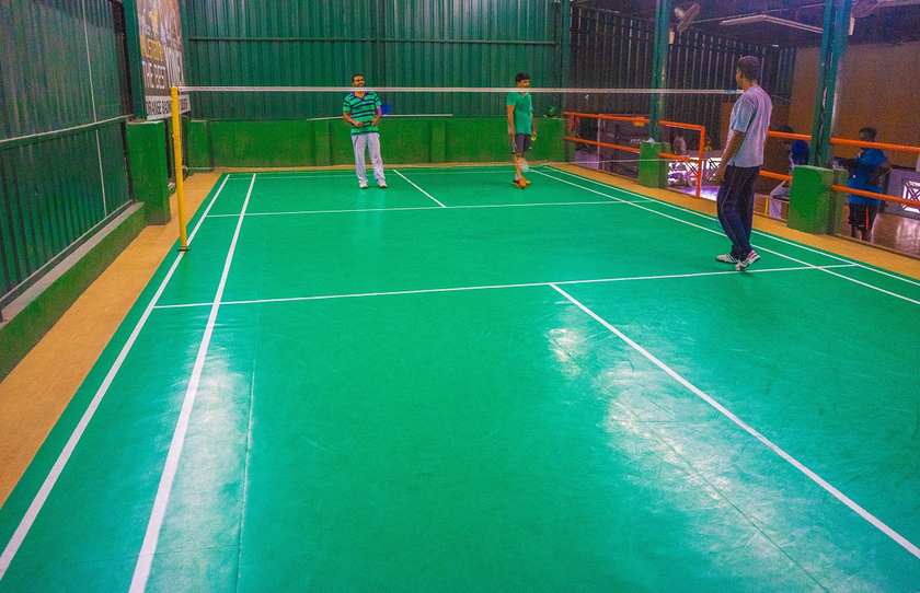 Orange Badminton Court