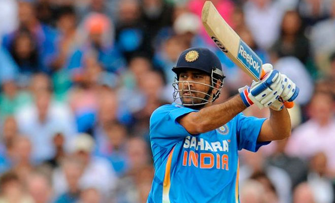 ms dhoni batting