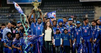 mumbai indians with the IPL trophy