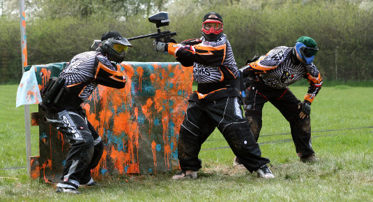 paintball playing