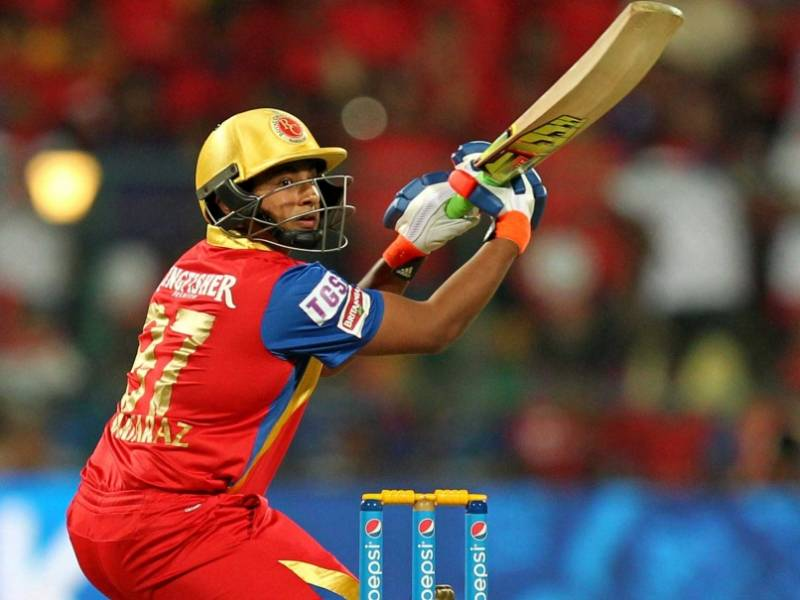 sarfaraz khan playing for the Royal Challengers Bangalore in IPL