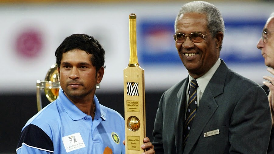 Sachin man of the series at 2003 world cup