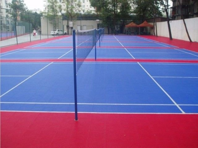 acrylic badminton court
