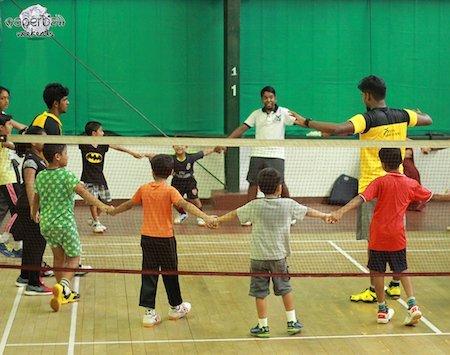 badminton training at sporthood