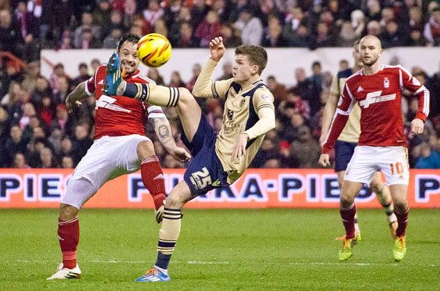 Andy Reid battles Sam Byram