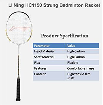 high tension badminton racket