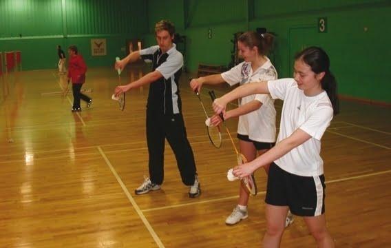 practice badminton