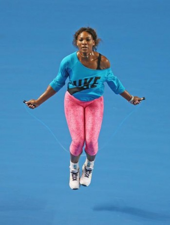 serena williams doing skipping