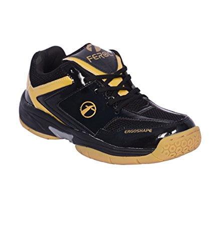 Feroc Black & Golden Unisex Badminton Shoe