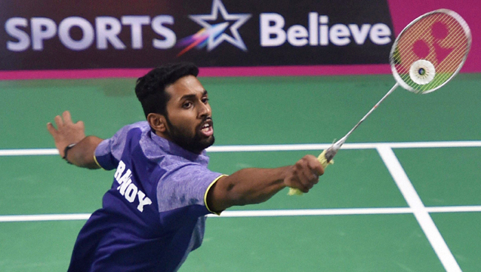 HS Prannoy using yonex badminton racket