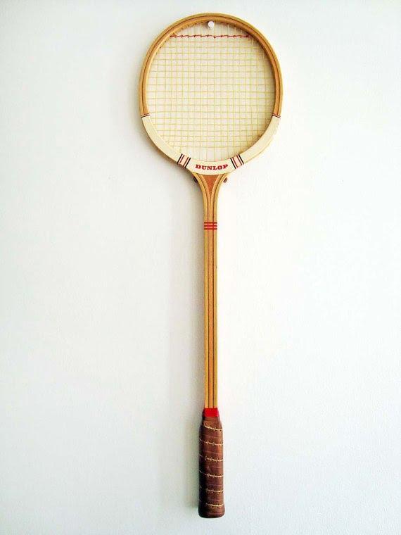 badminton racket on hook