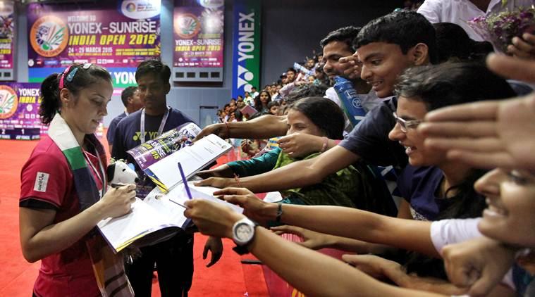 indian badminton crowd