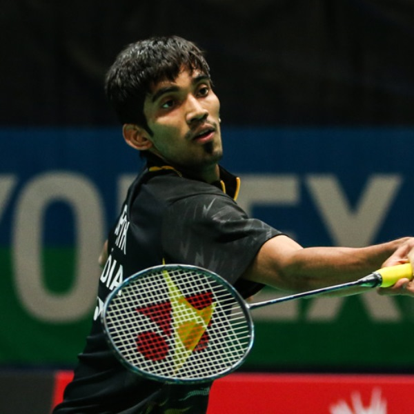 srikanth kidambi with his badminton racket